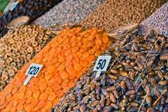 Dried food on the arab street market stall Stock Photo