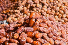 Dried food on the arab street market stall Royalty Free Stock Image