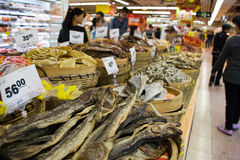 Dried food in the Chinese supermarket. In the Chinese supermarket, details, China Stock Photography