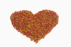 Dried food for dog/cat as a shape of heart Stock Photography
