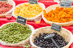 Dried food in a market Stock Photos