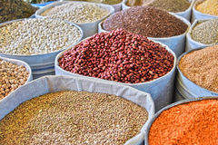 Dried food products on the arab street market stall Royalty Free Stock Photography