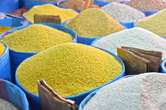 Dried food products on the arab street market stall Stock Images