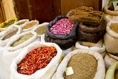 Dried food and spices Royalty Free Stock Photography