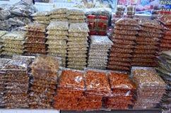 Dried food stall at Banzaan Market in Patong. Banzaan Market is a covered market in Patong, Phuket, Thailand royalty free stock image
