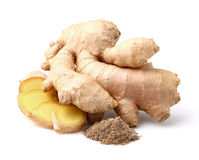Dried and fresh ginger root Stock Photo