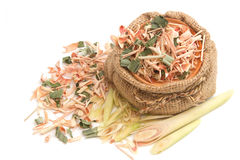 Dried and fresh lemon grass Stock Photography