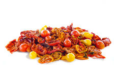 Dried and fresh tomatoes Stock Photo