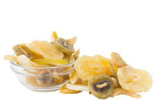 Dried fruints in the plate Royalty Free Stock Images