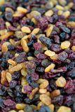 Dried fruit. Close-up of multi-coloured dried fruit royalty free stock photo