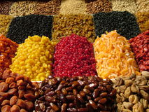 Dried fruit. On the market Stock Photo