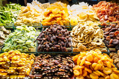 Dried fruit. Rich supply of dried fruit stock photography
