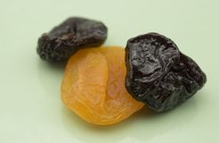 Dried fruit. On a plate Stock Photography