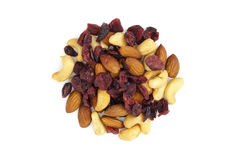 Dried fruit from above Royalty Free Stock Photography