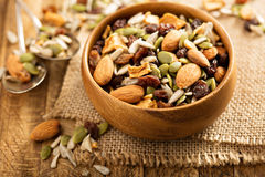 Free Dried Fruit And Nuts Trail Mix Royalty Free Stock Image - 83725776