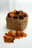 Dried Fruit Basket. Photo of dried fruit in a basket royalty free stock photo