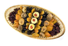 Dried fruit in a basket Royalty Free Stock Photography