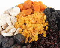 Dried fruit. In a bowl Stock Photography
