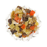 Dried fruit in bowl Stock Photos