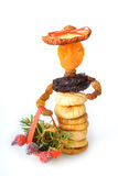 Dried fruit Christmas doll royalty free stock photo