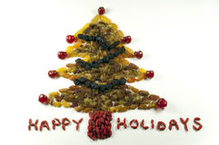 Dried Fruit Christmas Tree Royalty Free Stock Photos