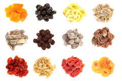 Dried fruit collection Stock Image