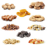 Dried fruit collection Royalty Free Stock Images
