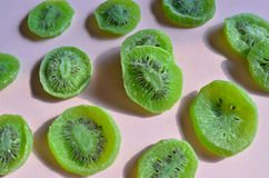 Dried fruit green Kiwi slices Stock Image