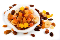 Dried fruit isolated on white Stock Image