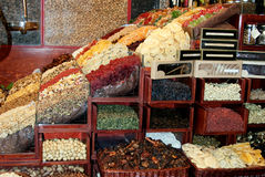 Dried fruit market royalty free stock image