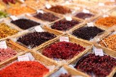 Dried fruit market Royalty Free Stock Photos