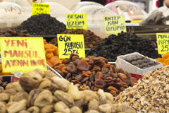 Dried fruit on market Royalty Free Stock Images
