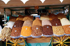 Dried fruit market in Marrakesh Stock Images