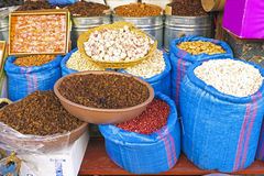 Dried fruit in the market in Morocco Stock Photography