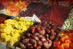 Dried fruit market Royalty Free Stock Photos