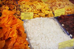 Dried fruit market Royalty Free Stock Photo