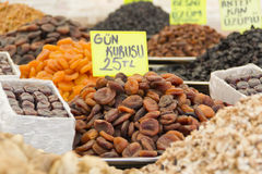 Dried fruit on market Royalty Free Stock Photos