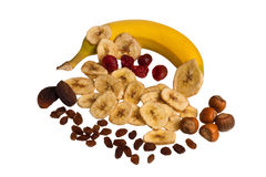 Dried fruit mix Royalty Free Stock Images