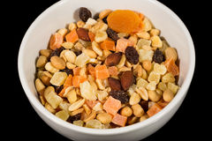 Dried Fruit and Nut Mix Royalty Free Stock Image