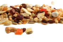 Dried fruit, nut and seed  mix Royalty Free Stock Photos