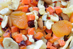 Dried Fruit and Nuts Stock Photos