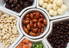 Dried fruit and nuts Stock Photography