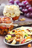 Dried fruit and nuts royalty free stock images