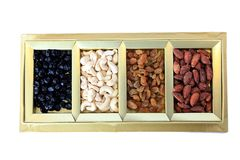 Dried Fruit and Nuts Gift Box Royalty Free Stock Photography