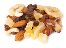 Dried Fruit and Nuts Stock Photo