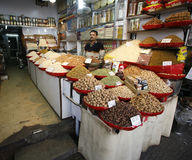 Dried fruit and nuts market in delhi Royalty Free Stock Image