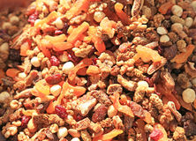 Dried fruit and nuts Royalty Free Stock Photos