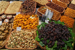 Dried Fruit and Nuts, Saint Joseph market, Barcelona Stock Images