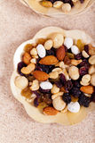 Dried fruit, nuts and seeds Stock Image