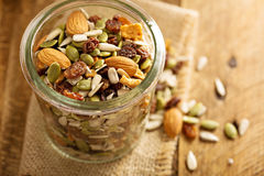 Dried fruit and nuts trail mix Stock Photography